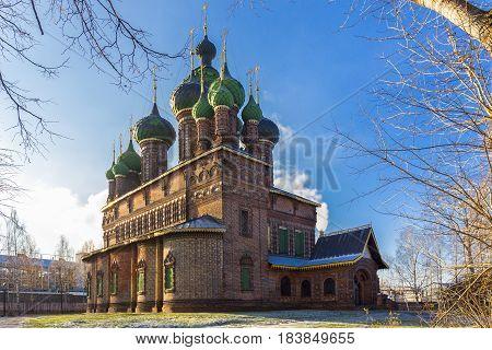 St. John the Baptist Church in Yaroslavl at winter