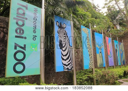 TAIPEI TAIWAN - DECEMBER 8, 2016: Taipei Zoo. Taipei Zoo is a public zoological garden and one of the most popular tourist