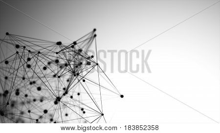 Abstract Graphic Consisting Of Points, Lines And Connection, Internet Technology.