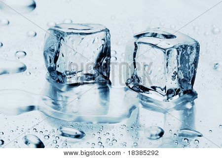 ice cubes on water
