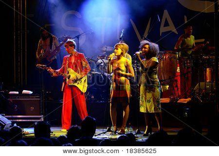 LOULE, PORTUGAL - JUNE 27: Zita Swoon performs onstage at Festival Med June 27, 2008 in Loule, Portugal.