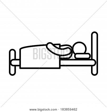 human asleep silhouette icon vector illustration design