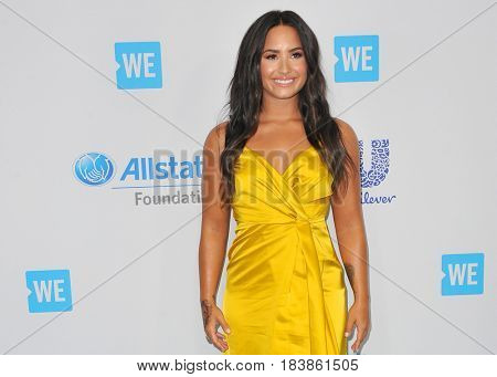Demi Lovato at the WE Day California 2017 held at the Forum in Inglewood, USA on April 27, 2017.