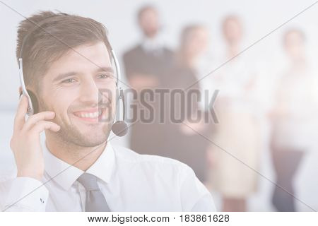 Telemarketer With Co-workers