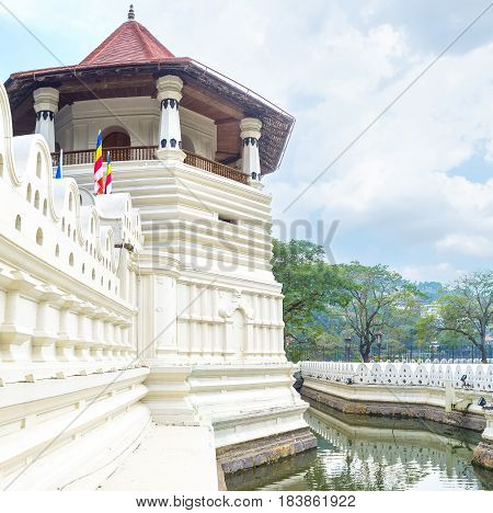 The White Tower Of Temple Of Sacred Tooth