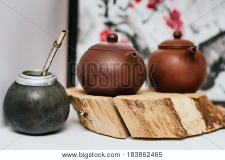 A Still-life From Two Teapots And One Kalabas