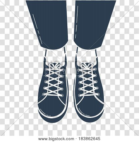 Icon Of Feet In Sports Shoes