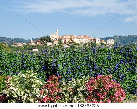 Hilltop Village Surrounded By Olive Groves And Vineyards