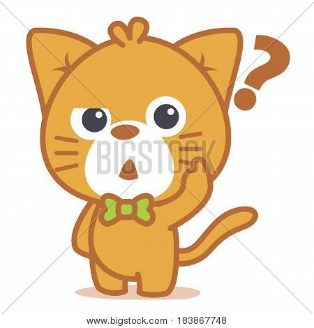 Thinking cat character style collection vector art