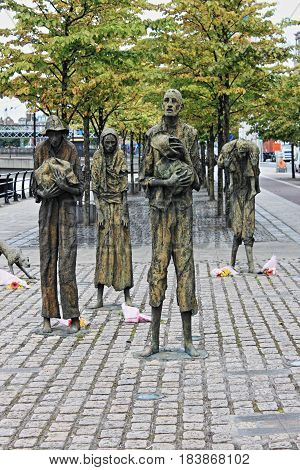 The Great Famine monument in Dublin, Ireland
