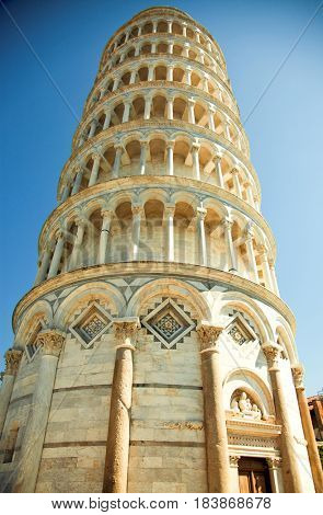 travel amazing Italy series - Pisa, Piazza dei miracoli, with the leaning tower