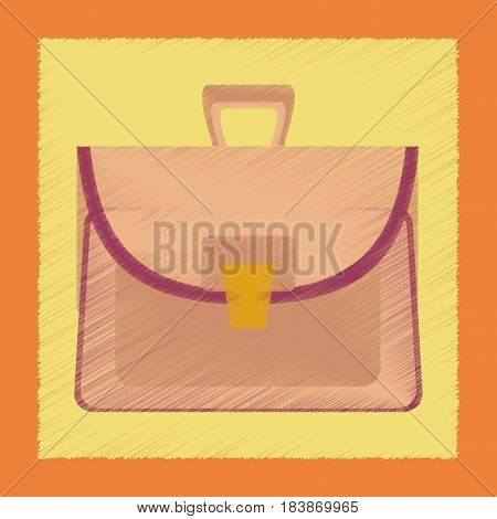 flat shading style icon case school bag
