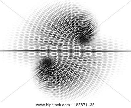 Monochrome abstract fractal illustration for creative design