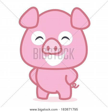 Funny pig animal vetcor art collection stock