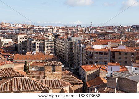 View of Salamanca from La Clerecia rooftop