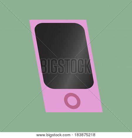 Technology gadget in flat design mp3 player