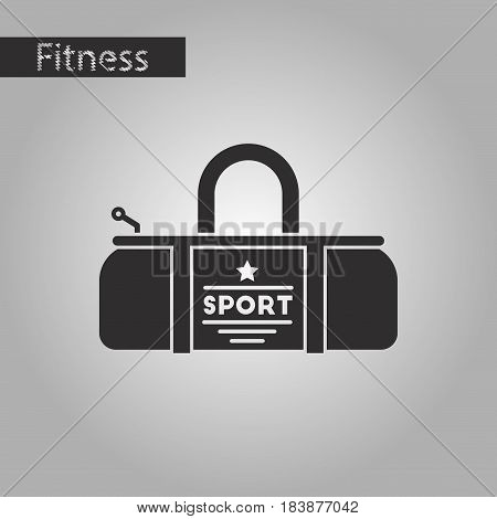 black and white style icon Sports bag