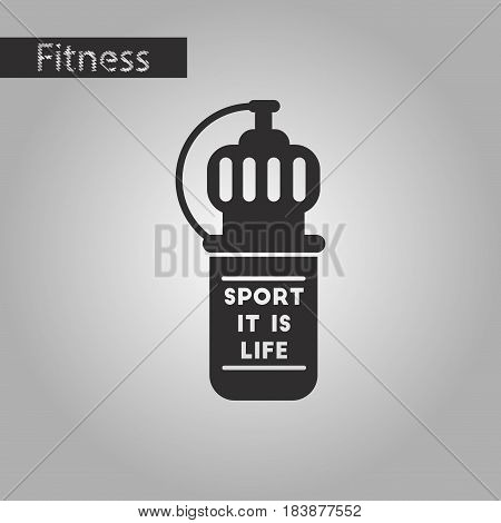 black and white style icon Sports bottle