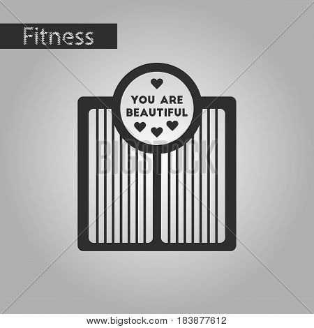 black and white style icon Electronic floor scales