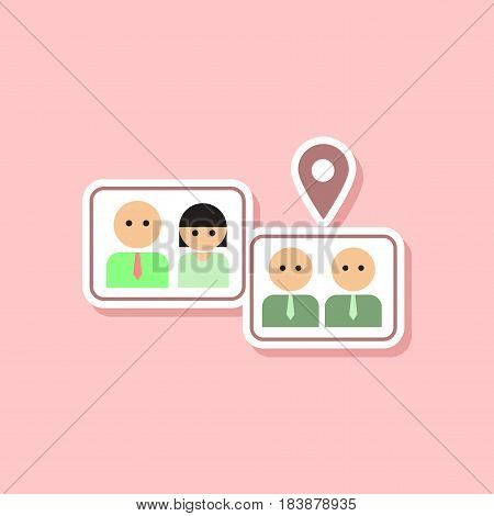 paper sticker on stylish background gay marriage set