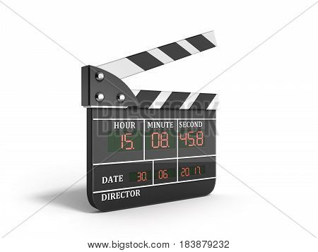 Movie Clapper Board High Quality 3D Render On White