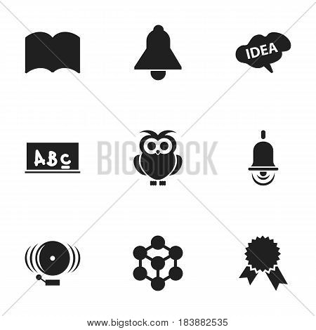 Set Of 9 Editable Science Icons. Includes Symbols Such As Mind, Ring, Victory Medallion And More. Can Be Used For Web, Mobile, UI And Infographic Design.