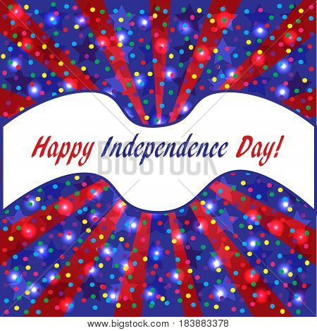 Happy Independence day USA background American flag colors square Instagram format