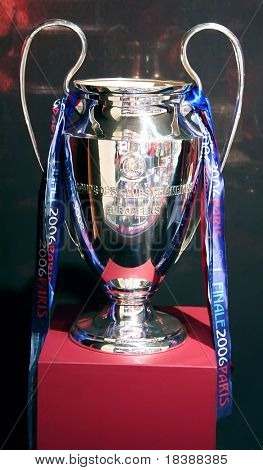 Champions League Cup won by FC Barcelona in Paris, May 17th 2006