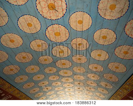 Pattern ceiling in the temple in Sri - Lanka