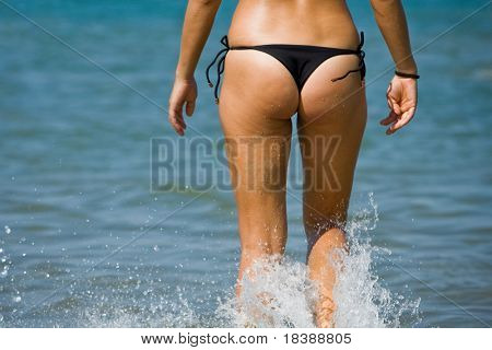 Adult women tushie with cellulite poster