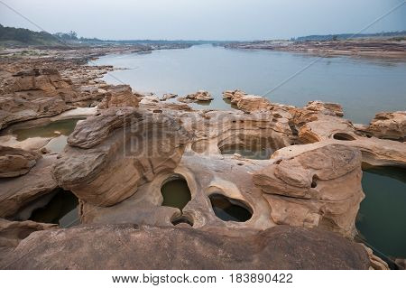 Sam Pan Bok (Grand Canyon of Thailand) Ubon Ratchathani Thailand