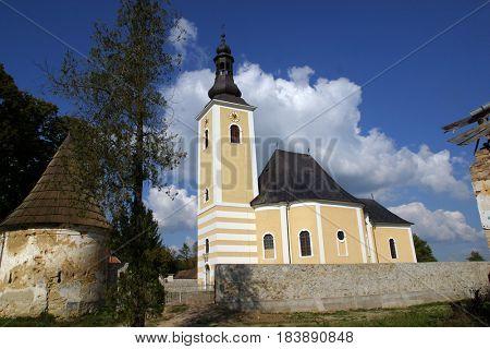 POKUPSKO, CROATIA - JULY 10: Parish Church of Assumption of the Virgin Mary in Pokupsko, Croatia on July 21, 2011.