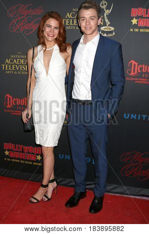 LOS ANGELES - APR 26:  Courtney Hope, Chad Duell at the NATAS Daytime Emmy Nominees Reception at the Hollywood Museum on April 26, 2017 in Los Angeles, CA