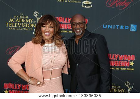 LOS ANGELES - APR 26:  Kym Whitley, Rodney Van Johnson at the NATAS Daytime Emmy Nominees Reception at the Hollywood Museum on April 26, 2017 in Los Angeles, CA