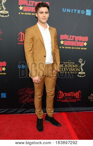 LOS ANGELES - APR 26:  Max Ehrich at the NATAS Daytime Emmy Nominees Reception at the Hollywood Museum on April 26, 2017 in Los Angeles, CA