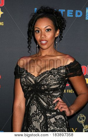 LOS ANGELES - APR 26:  Mishael Morgan at the NATAS Daytime Emmy Nominees Reception at the Hollywood Museum on April 26, 2017 in Los Angeles, CA
