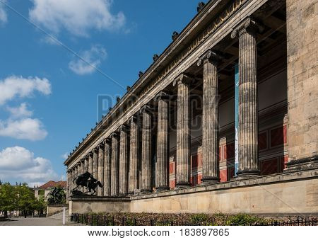 Berlin Germany - april 27: The Old Museum (Altes Museum) at Museum Island in Berlin Germany.