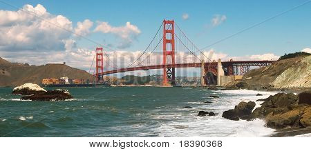Golden Gate Bridge as seen from Baker Beach.