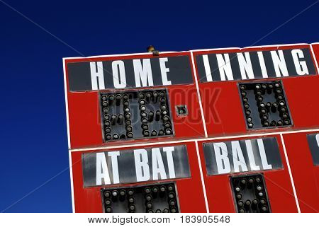 Baseball scoreboard sports
