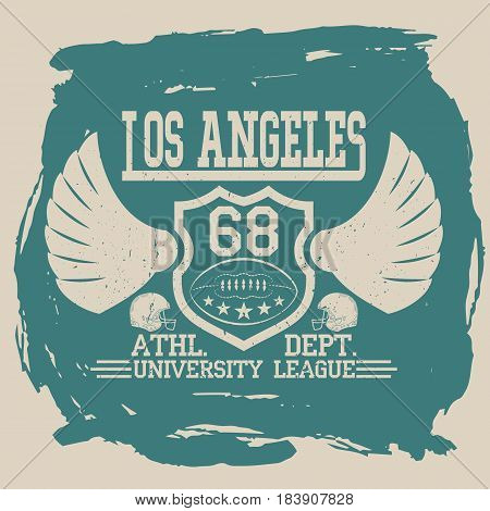 Los Angeles Sport wear typography emblem, american football, vintage,  college league , superior. For t-shirt or other uses.