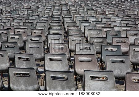 Field of chairs at the Vatican in Rome