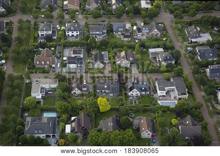 Aerial view of Zwolle in the Netherlands