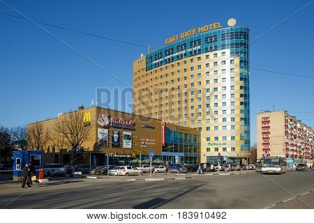 BALASHIKHA/ RUSSIA - APRIL 5, 2016. Downtown of the city Balashikha. Moscow region, Russia.