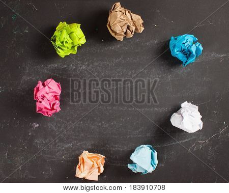 Crumpled Paper On Table