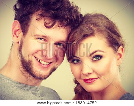 Cheerful Couple Hugging Together.