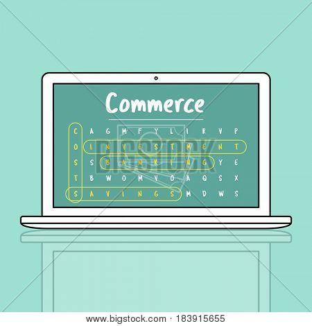 Business Strategy Investment Commerce Illustration