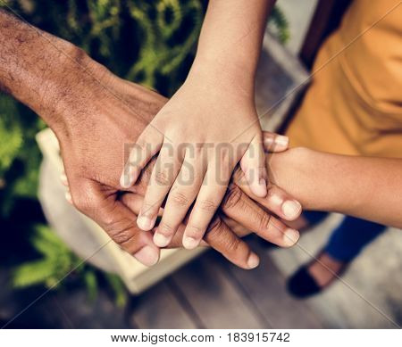 Community Support Together Hands Join