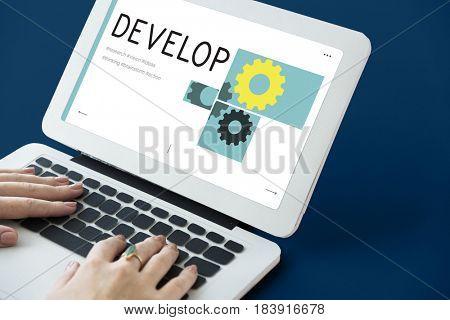 Gear Cog Collaboration Development Graphic