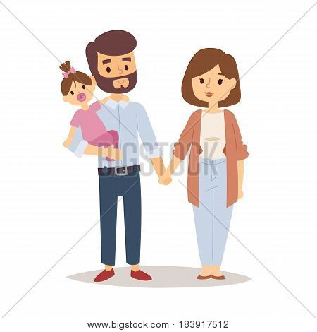 Family happy couple cartoon and relationship characters lifestyle vector illustration. Relaxed friends group adult together romantic casual vacation retirement family.