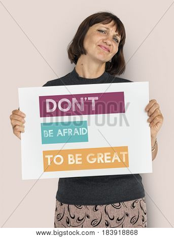 Do Not Afraid To be Great Word Graphic